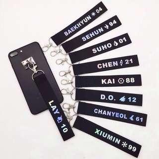 EXO Member Laser Name Phone Lanyard / Keychain / Strap