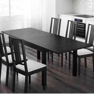 IKEA Extendable Dining Set - Table and Chairs