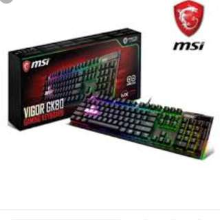 🚚 MSI微星Vigor GK80 Cherry MX RGB機械電競鍵盤 (紅軸版)