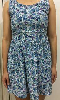 Floral Dress (with ribbon)