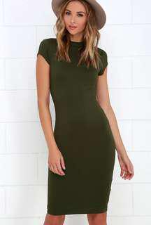 Cotton On Forest Green Bodycon Maxi Dress