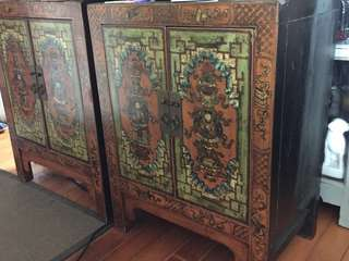 Antique Lower Chest (pair 1對)