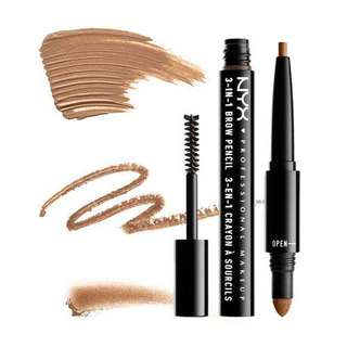 NYX 3-in-1 Brow Pencil in Caramel