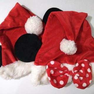 Disney mickey and minnie mouse santa hats