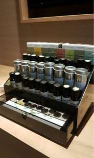 Essential oils case for 40 oils and cabinet