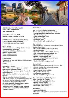 4D3N KOREA TOUR PACKAGE (Via Manila)