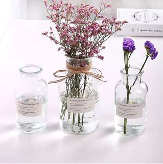 Bottled flower vase