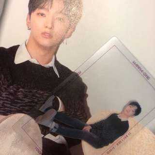 "wanna one ""1 - 1 = 0 (NOTHING WITHOUT YOU)"" Jisung photocard ( one ver. )"