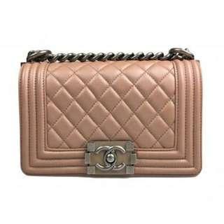 Chanel le boy mini powder pink