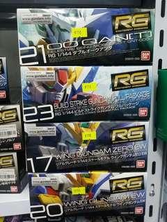 Bandai 高達模型 RG Gundam 圖中每款 $150