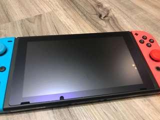 Nintendo Switch Tempered Glass Screen Protector Matt Purple Light