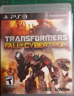Transformer Fall of Cybertron PS3