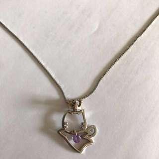紫晶貓貓頸鏈