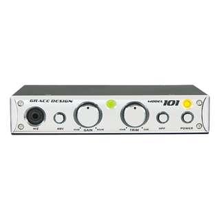 【米可果音樂】Grace Design M101 silver mic preamp 麥克風前級