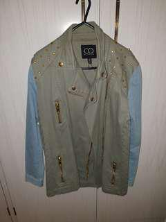 Denim khaki jacket