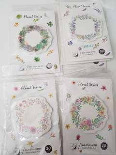 FLORAL POST IT NOTES INSTOCKS