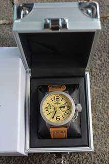 TW Steel Canteen Leather Brown Strap Mens Watch (CS13)