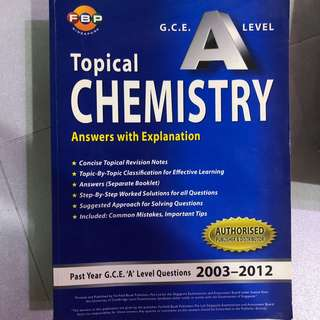 Topical Chemistry H2 A Level