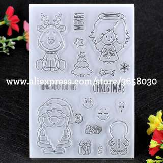 🚚 🌸 [SALE] Christmas Clear Stamp