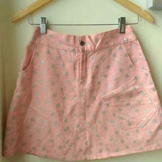 Pink Polka Mini Skirt