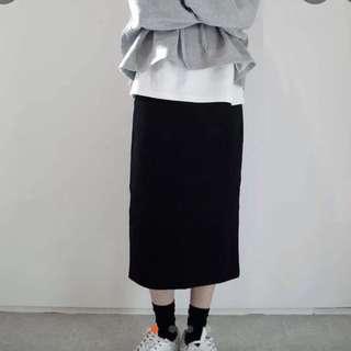 🚚 黑色高腰窄裙