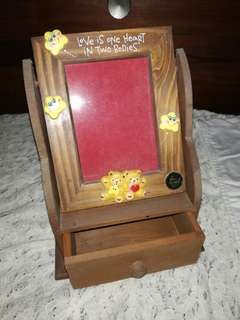 Blue Magic small jewelry box with Frame