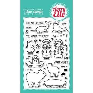 Avery Elle Polar Pals Stamps