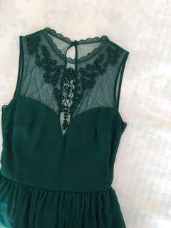 [ZARA TRF] Green Lace Formal Dress