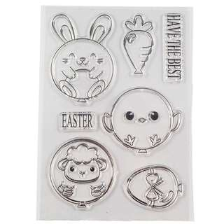 🚚 🌸 [SALE] Easter animal balloon clear stamp