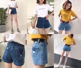 全新牛仔短褲 尺寸:M