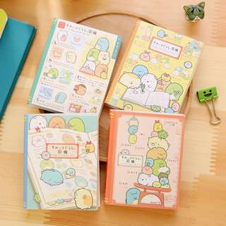 🚚 SAN-X SUMIKKO GURASHI 4-FOLD MINI MEMO PAD / NOTEPAD @ $2.50 PER BOOKLET OR ALL 4 DESIGNS FOR $9 ONLY!!! READY STOCKS!