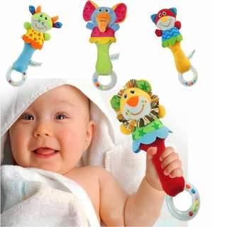 22cm Animal soft stuffed infand baby plush toys rattles kids