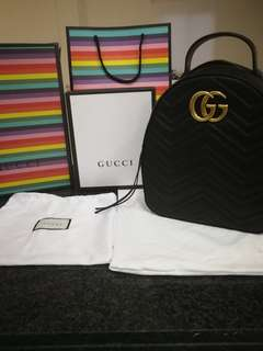Gucci Marmont GG Backpack Matelasse