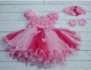 Tutu dress baby pink and fuschia pink