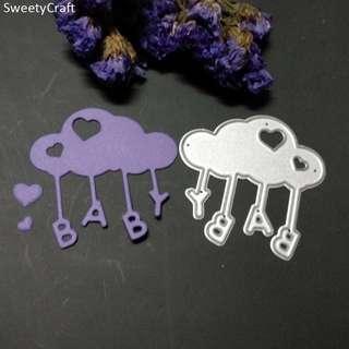 🚚 🌸 [SALE] Baby Cloud Love Craft Scrapbooking die cut stamps stencils