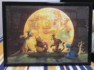 Winnie the Pooh and friends Puzzle with frame