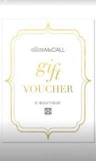 Alice McCALL $360 Voucher