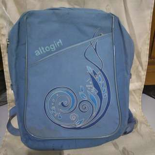 Tas gendong laptop biru ALTOGIRL