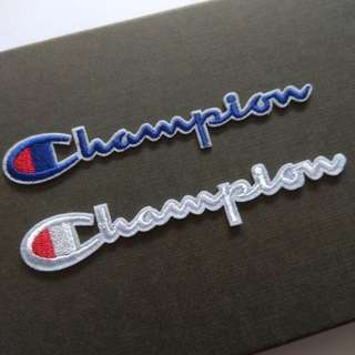 Champion Signature Logo Iron On Patch
