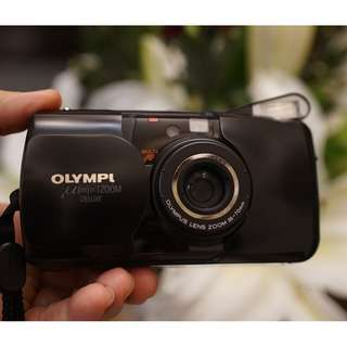 OLYMPUS u mju ZOOM Deluxe 35-70mm 附電池 自動對焦內建閃光燈 日期功能