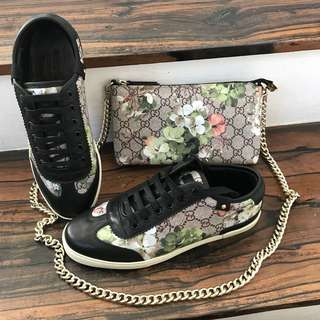 Gucci Sneakers and Sling Wallet