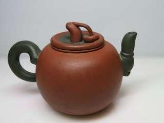 🚚 [老茗器]紫砂壺~紅土 老香菇壺 有落款 210CC