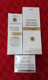 Cream pagi+malam+facial wash (kulit normal) mencerahkan
