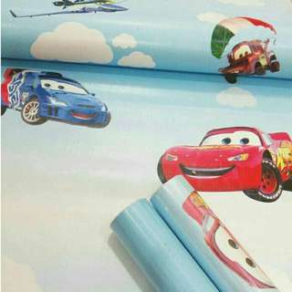 Wallpaper Sticker Dinding Uk 45cm x 10meter Cars