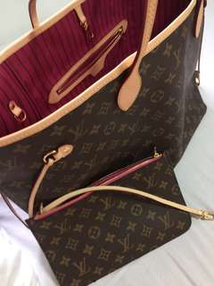 Louis Vuitton Neverfull GM in Fuschia interior bought in USA