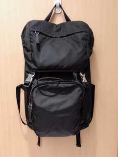 Prada黑色基本款後背包
