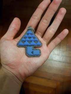 Monster Hunter World Blue Mushroom Keychain