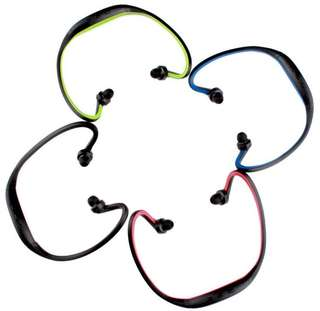 Wireless Stereo Bluetooth Sports Headset Headphone For Phone blue color