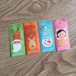 🎈原價賣 聖誕郵票III 2014 香港特別郵票 一套四枚