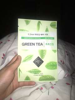 Face mask- green tea for moisturising and soothing